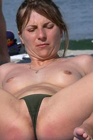 Seductive panties on a beach