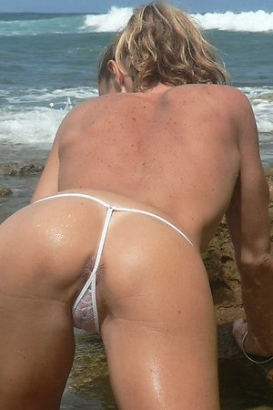Tempting panties on a beach
