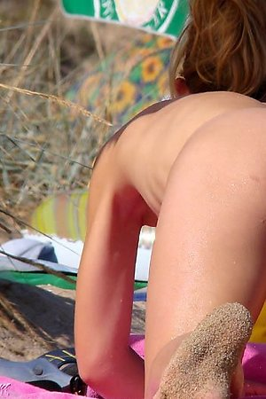 Hot nudist butts at nude beach