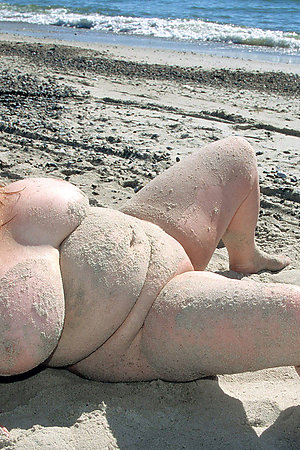 Big titted nudists on the seashore