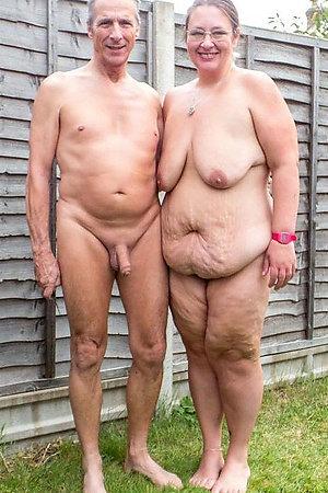 Nudist older women near their houses
