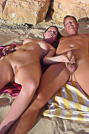 Horny nudists sucking cocks in public
