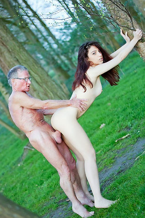 Old nudist men with nudist young girls