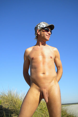 Older nudist man with 20 years younger nudist girl