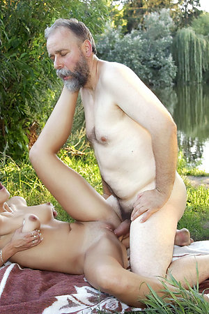 Older nudist men with younger nudist girls
