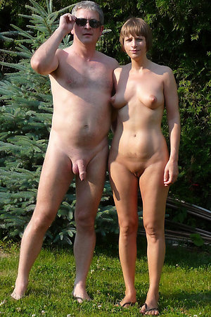 Pervert old-young naturist couples