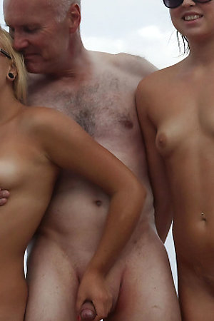 Pervert nudists with age difference