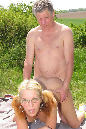 Nudist old men with young girls