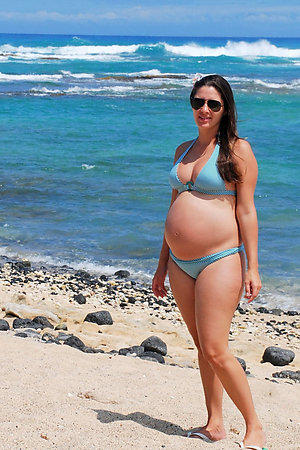 Pregnant ladies on a nudist-naturist beach