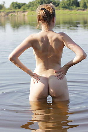Nude sports on clothed beach
