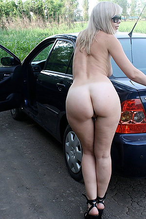 Horny amateur nudists outside